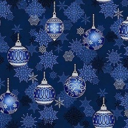 Christmas Ornaments - BLUE/SILVER