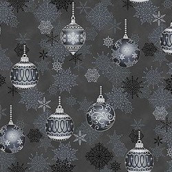 Christmas Ornaments - DK GREY/SILVER