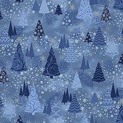 Christmas Trees - BLUE/SILVER