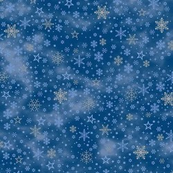 Snowflakes & Stars - BLUE/SILVER