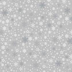 Snowflakes & Stars - GREY/SILVER