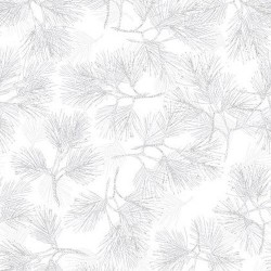 Pine Branches -  WHITE/SILVER