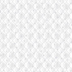 Wavy Star Stripe - WHITE/SILVER