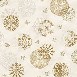 Christmas Circle Stamps - WHITE/GOLD