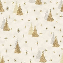 Christmas Trees - WHITE/GOLD