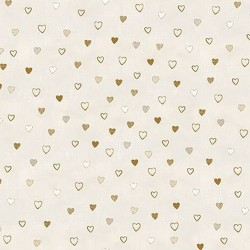 Hearts - WHITE/GOLD