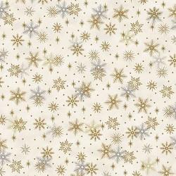 Snowflakes - WHITE/GOLD