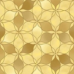 Stained glass Stars - GOLD