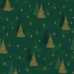 Christmas Trees - GREEN/GOLD