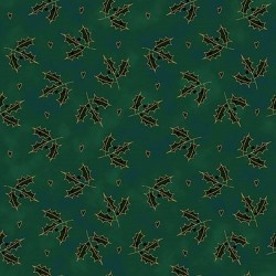 Holly Leaves - GREEN/GOLD