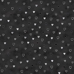 Hearts - BLACK/SILVER