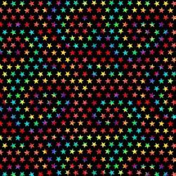 Tie-Dye Groovy Stars - BLACK
