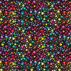 Tie-Dye Groovy Bubble Dots - BLACK
