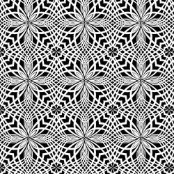 Patterned Petal Tiles - BLACK