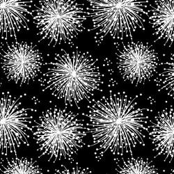 Graphic Dandelion Puffs - BLACK