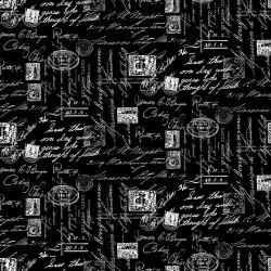 Fancy Script Text - BLACK
