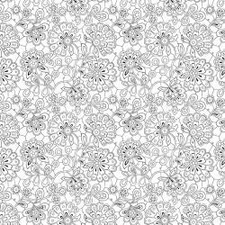 Paisley Doodles - WHITE