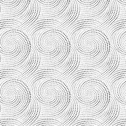 Dotted Spirals - WHITE