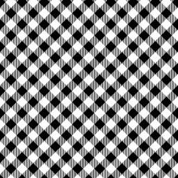 Diagonal Gingham - BLACK