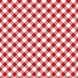 Diagonal Gingham - RED
