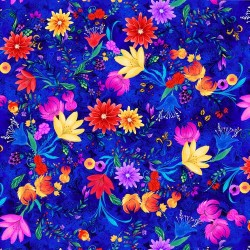 Whirlwind Large Floral - BLUE