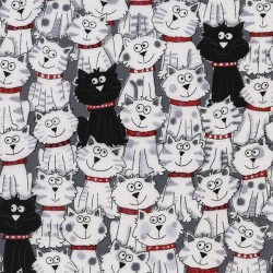 Cartoon Cats - BLACK/WHITE