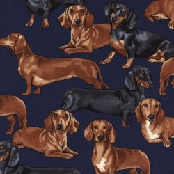 Realistic Sausage Dogs - NAVY