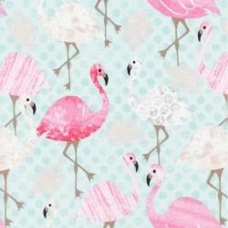 Pastel Flamingos - AQUA