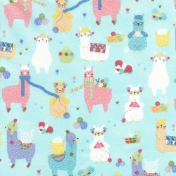 knitting Llamas - AQUA