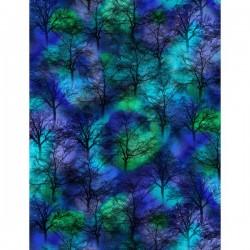 Northern Lights Trees - COBALT