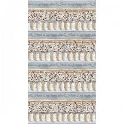 Mason Jars Cotton Stripe - BLUE