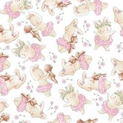 Dancing Bunnies - WHITE