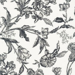 Etched Viney Floral - IVORY