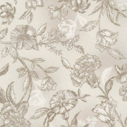 Etched Viney Floral - TAUPE
