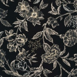Antique floral - BLACK