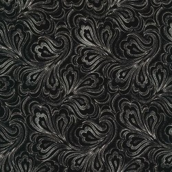 Fanned Paisley - BLACK