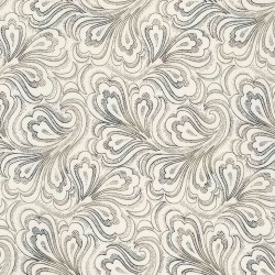 Fanned Paisley - IVORY