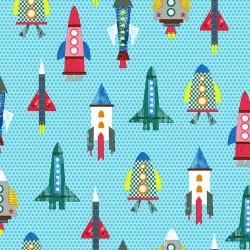 Patterned Rockets - BLUE