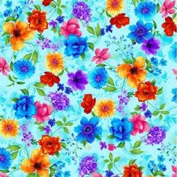 Mixed Floral - AQUA