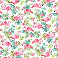 Painted Flamingos - WHITE