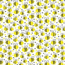 Bumble bees - WHITE