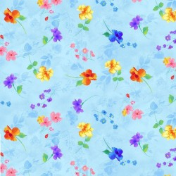 Spaced Floral - BLUE