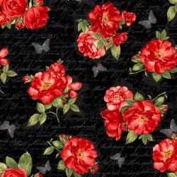 Roses & Script - BLACK