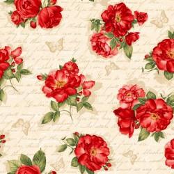 Roses & Script - CREAM
