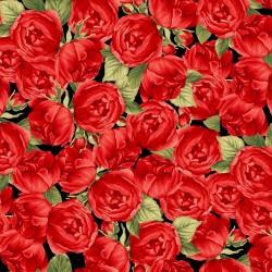Allover Roses - BLACK