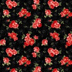 Rose Toile - BLACK