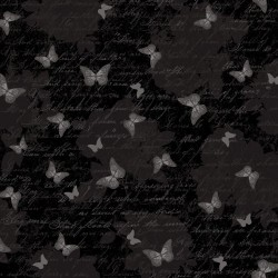 Butterfly Toile - BLACK