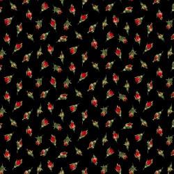Tossed Rosebuds - BLACK