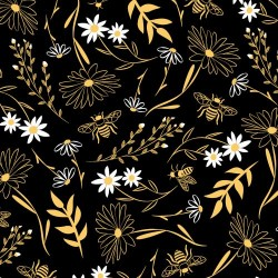 Bee Large Florals - BLACK