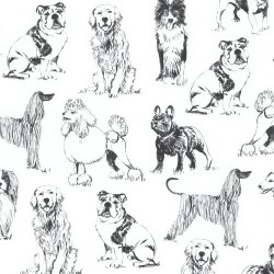 Sketched Realistic Dogs - BLACK
